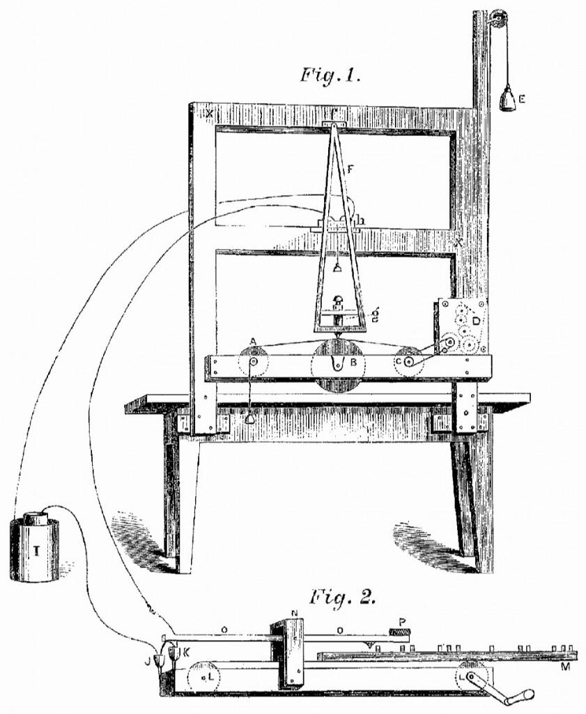 Первый телеграфный аппарат Морзе