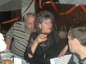 Степаныч, с супругой Ольгой  и Шурик их сын
