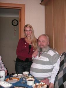 с дочерью Оксаной