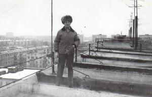 rw9oa на крыше, антенные дела